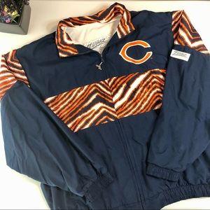 Zubaz Chalk Line Chicago Bears Jacket Sz XL